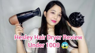 Hesley Hair Dryer Review / Affordable Hair Dryer Under 1000 😊 #Hairdryer #Review