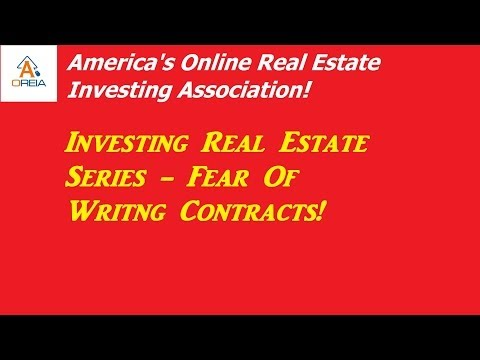 Investing Real Estate Fear Of Writing Real Estate Contracts, Live Presentation