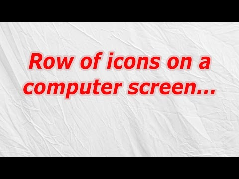 Row of icons on a computer screen