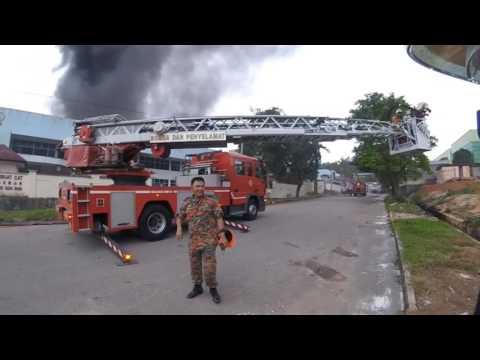 fire call Kilang solvent terbakar Pasukan Bomba Sukarela Kulai Besar