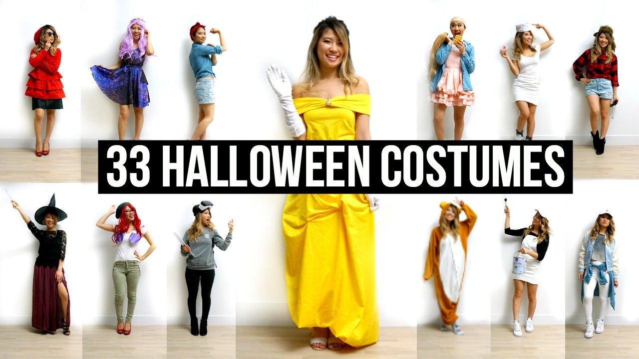 sc 1 st  YouTube & 33 Last Minute DIY Halloween Costumes Ideas! - YouTube