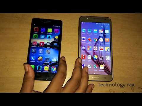 galaxy j7 vs lenovo A6000 plus comparison and speed test review HD