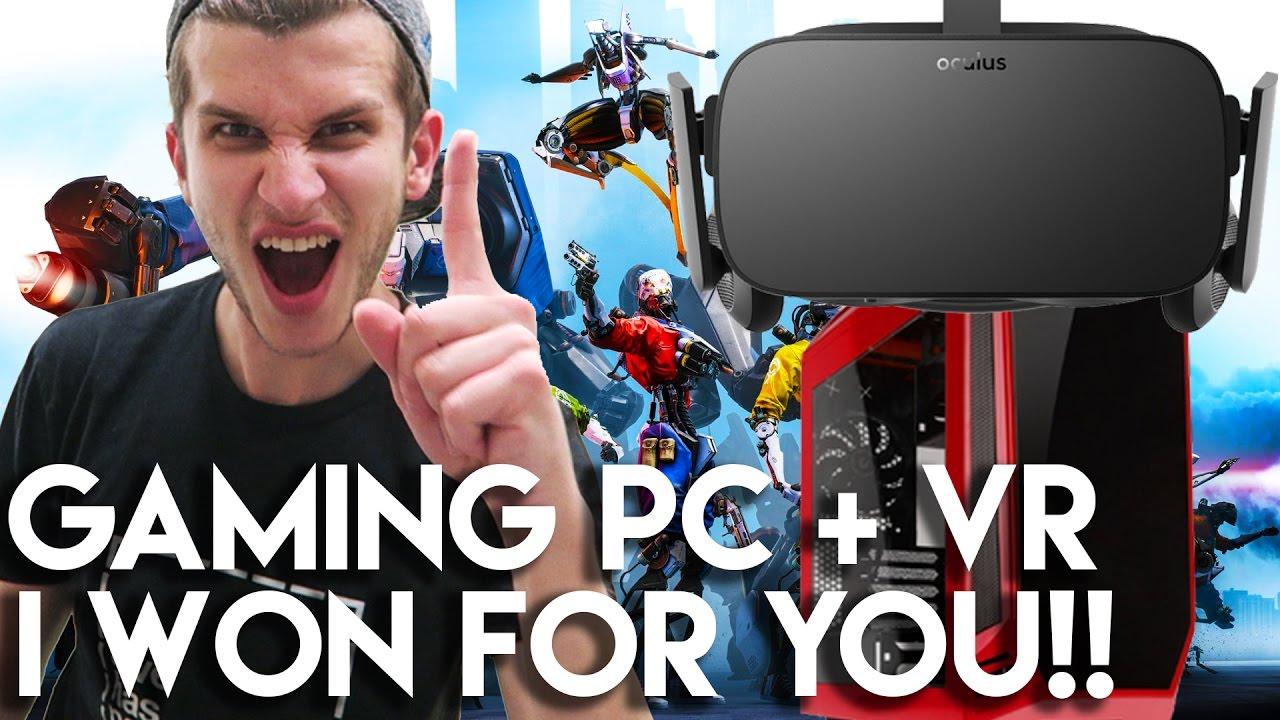 I won the oculus rift tournament gaming pc vr bundle for Crazy fishing vr