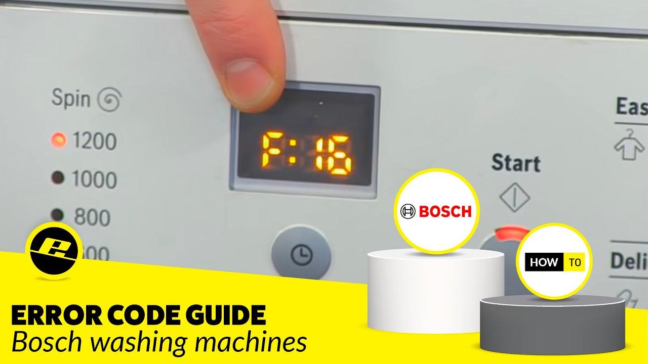 How to Identify an Error Code on a Bosch Washing Machine