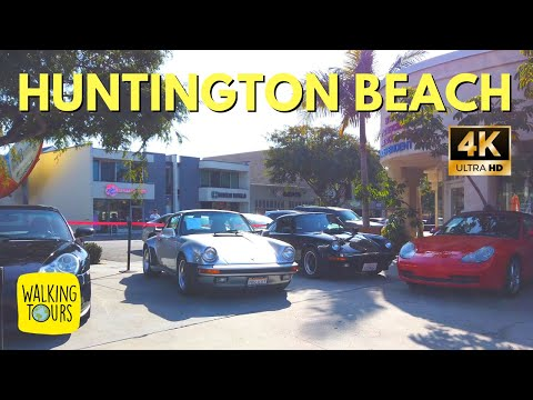 Huntington Beach CA | 4K Walking Tour