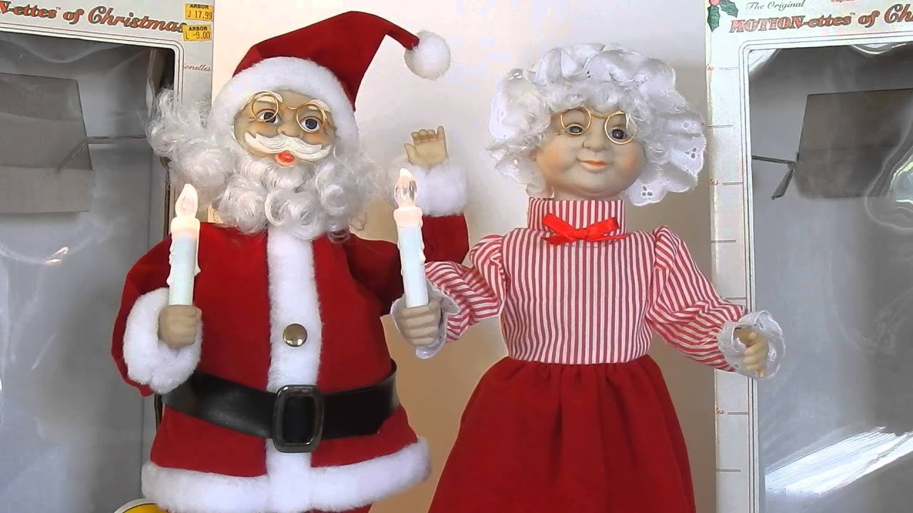 Telco 1989 Motion-ettes of Christmas Lighted Animated Santa & Mrs ...
