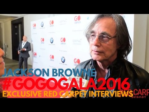 Jackson Browne interviewed at 10th GO Campaign Gala #GOGOGala2016 #GOCampaign #WeAskMore