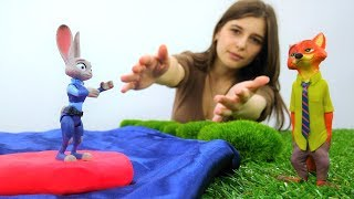 #Зверополис. #ДЖУДИ Хопс и НИК играют в #Toyclub. Видео для детей с игрушками