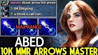 ABED [Mirana] 10k MMR Arrows Master Max Range Stun Cancer Gameplay 7.22 Dota 2