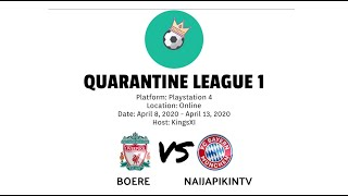 Quarantine League 1 | Boere vs Naijapikintv| HD