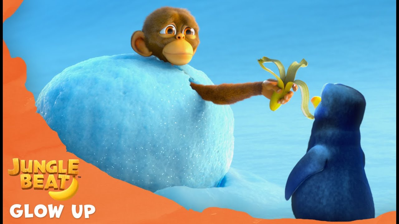 Penguin's Glow Up - Jungle Beat: Munki and Trunk | Kids Animation 2021