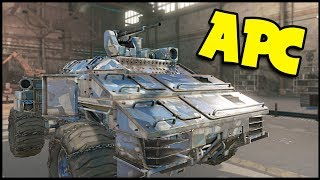 Crossout - TOW APC! Tow + Pyre + MG! - Update - Crossout Gameplay