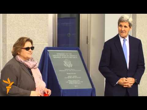 Kerry Opens Expanded US Embassy in Kyrgyzstan