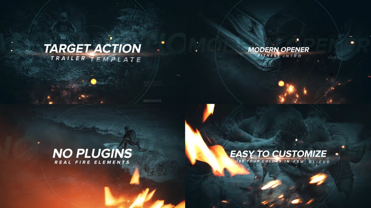 After Effects Template - Target Action Trailer