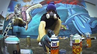 "Zase v Dekor ""Turtle Race"" - Graffiti Time Lapse -"