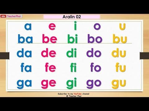 Unang Hakbang Sa Pagbasa Aralin 02 || HOW TO TEACH CHILDREN TO READ