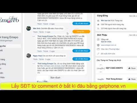 lấy SĐT từ comment facebook bằng getphone.vn