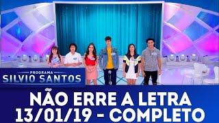 Não Erre a Letra   Programa Silvio Santos (13/01/19)