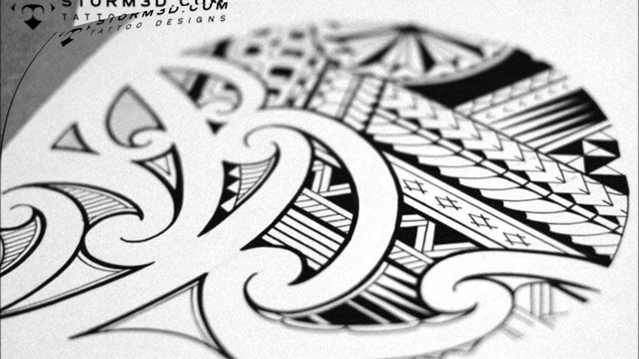 Maori Style Tattoo Designs: Mixed Samoan Maori Style Tattoo Design