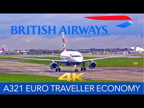 British Airways A321 Euro Traveller Economy Class 4K Trip Re