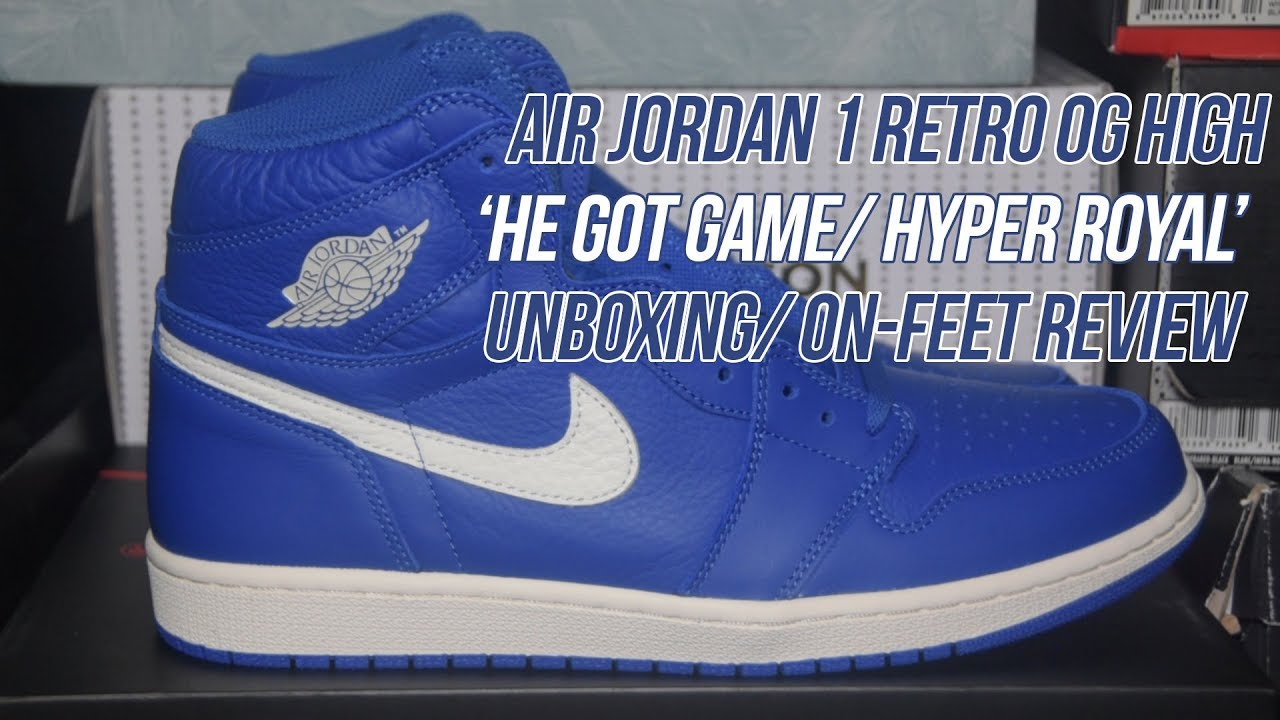 online retailer 3439b e7112 Air Jordan 1  Hyper Royal  He Got Game    Solepost Unboxings