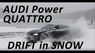 Audi Power - Audi S5 V8 Quattro Drift in Snow 😍😉