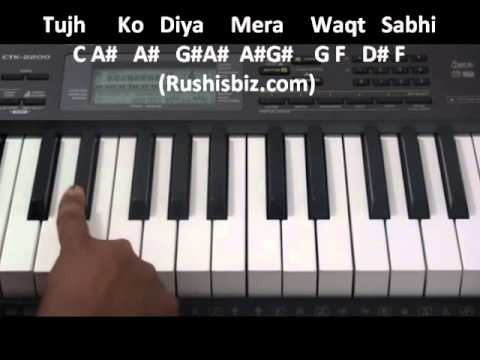 Kyunki Tum Hi Ho ........ (Aashiqui2) - Piano Tutorials - Full Song