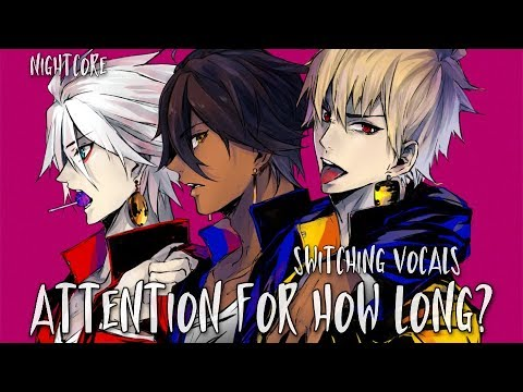 Nightcore - Attention x How Long (Switching Vocals)