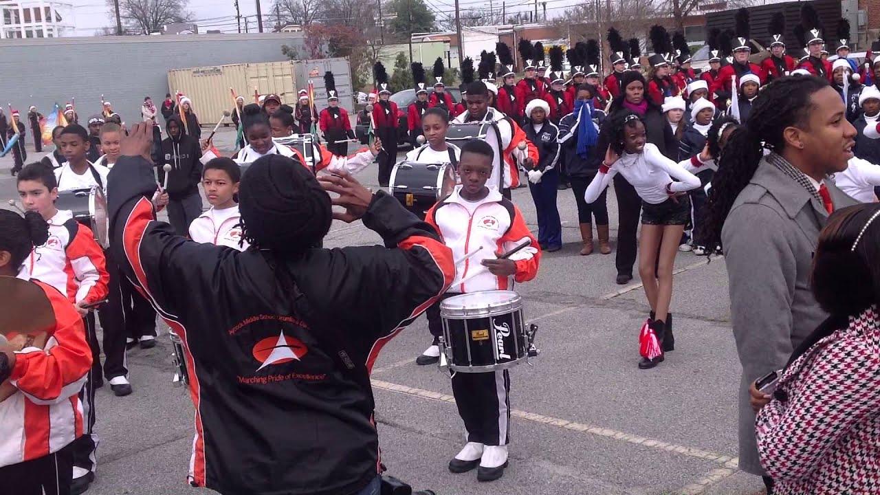 Greensboro Christmas Parade 2013-Drumline Footage - YouTube