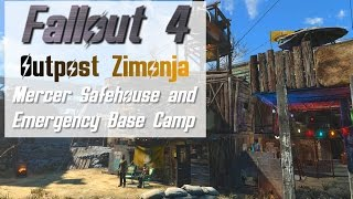 Fallout 4: Outpost Zimonja Mercer Safehouse and Emergency Base - Settlement Tour (Lore Friendly)