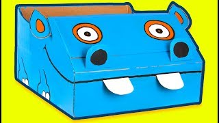 Craft Ideas with Boxes - Hippo Boat | DIY on Box Yourself