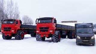 Вездеход ЯМАЛ, огромный грузовой внедорожник для Зимника севера