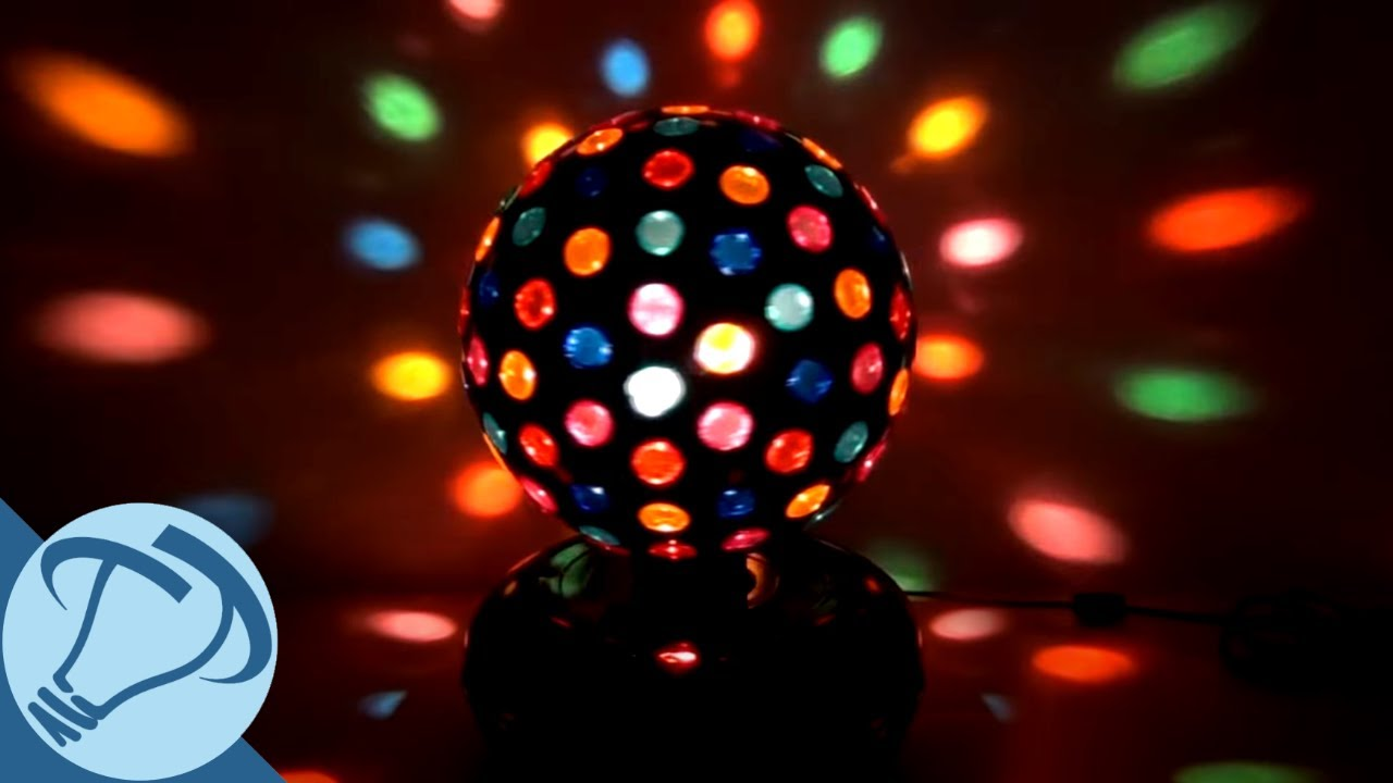 10 black rotating disco ball with 121 points of light from creative