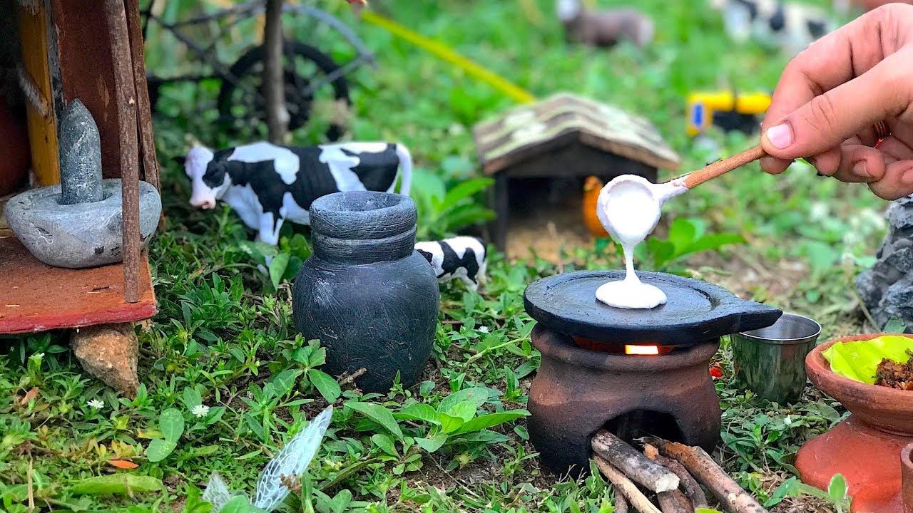 Miniature Masal Dosa | Masal Roast Recipe | Miniature Cooking | Mini Food