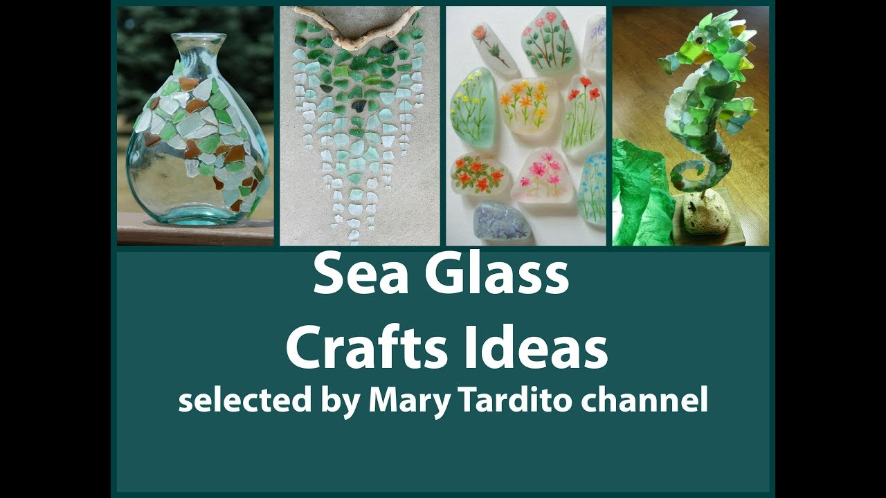 Sea Glass Crafts Ideas Beach Style Decor Summer Decorating