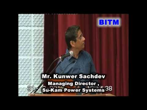 National Seminar 2012 - Mr. Kunwer Sachdev ( Sri Balaji Society , BITM )