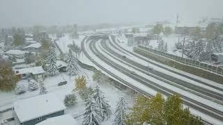 Snowy October in Calgary thumbnail