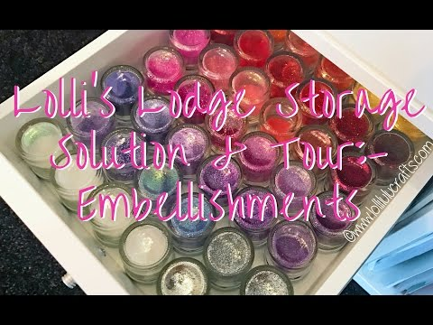 Lolli's Lodge Storage Solutions & Craft Room Tour - Embellishments