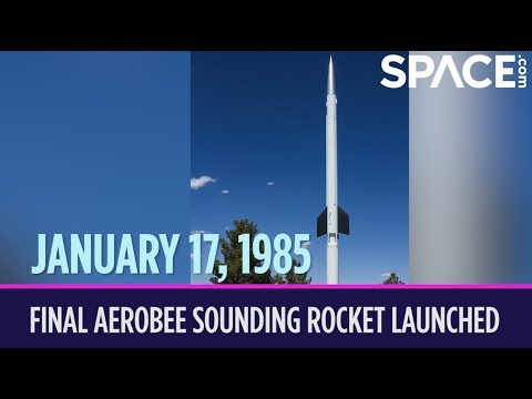 otd in space january 17 final aerobee sounding rocket launched
