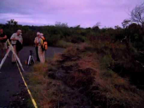 10/23/2009 Big Island CREST 溶岩と星のツアー カラパナ溶岩流その1