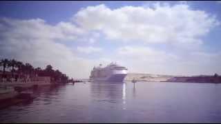 مشهد مذهل لمدينة عائمة أكبر سفينة ركاب فى العالم تعبر قناة السويس مايو 2015