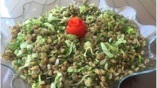 Yeşil Mercimek Salatası - ikramlık tarifler - Salata tarifleri