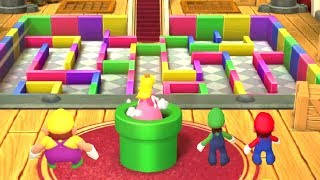 Mario Party 10 MiniGames - Peach vs Mario vs Luigi vs Wario