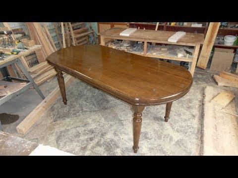 большой обеденный стол из массива , столярные хитрости