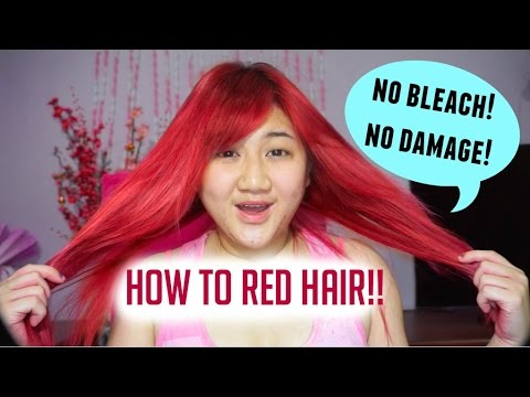 how to red hair no bleach no damage youtube