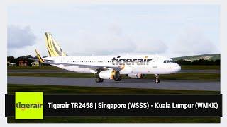 [FSX] Tigerair TR2458 | Singapore (WSSS) - Kuala Lumpur (WMKK) | Aerosoft Airbus X