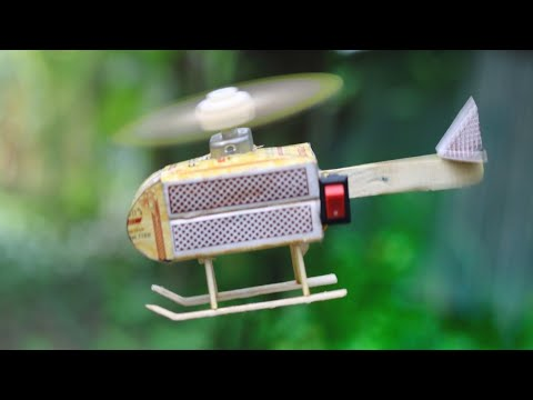 How To Make A Flying Helicopter With Matches And DC Motor
