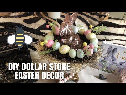 DIY DOLLAR STORE EASTER DECOR
