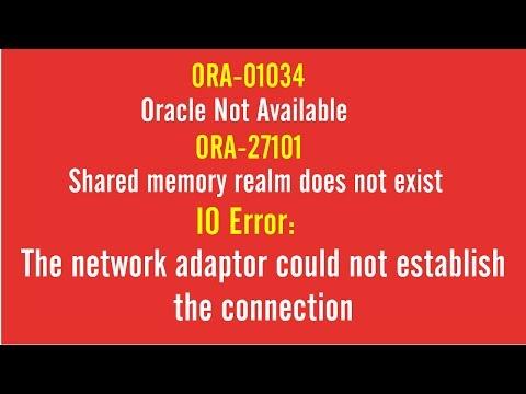 FIX: ORA-01034 | Oracle Not Available | ORA-27101 | IO ERROR