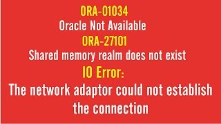 SOLUTION: ORA-01034 |Oracle Not Available | ORA-27101 |Shared Memory Realm Does Not Exist | IO Error
